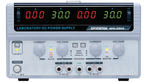 Buy Bench Top Power Supply, Number of Outputs=2, 180 W, Voltage Max. 30 V, Current Max. 3 A, Adjustable