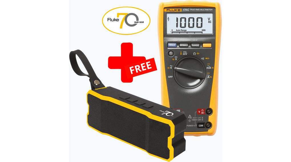 Buy Fluke 179 True-RMS Digital Multimeter + FREE Bluetooth® Speaker FLUKE-179/SP TRMS AC
