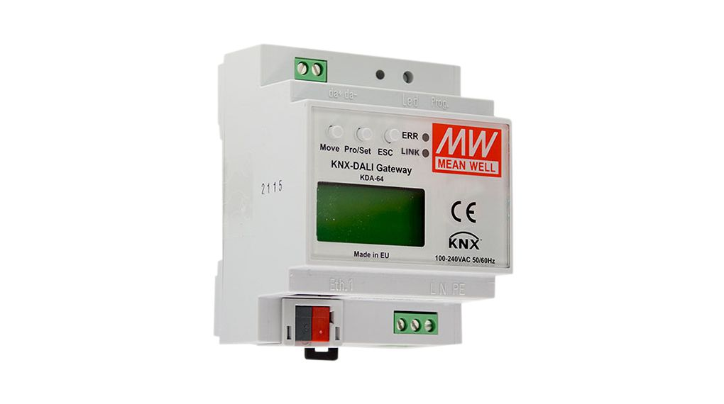 Buy KNX to DALI Gateway Suitable for Connecting to KNX Installation 72x86x55mm DIN Rail Mount