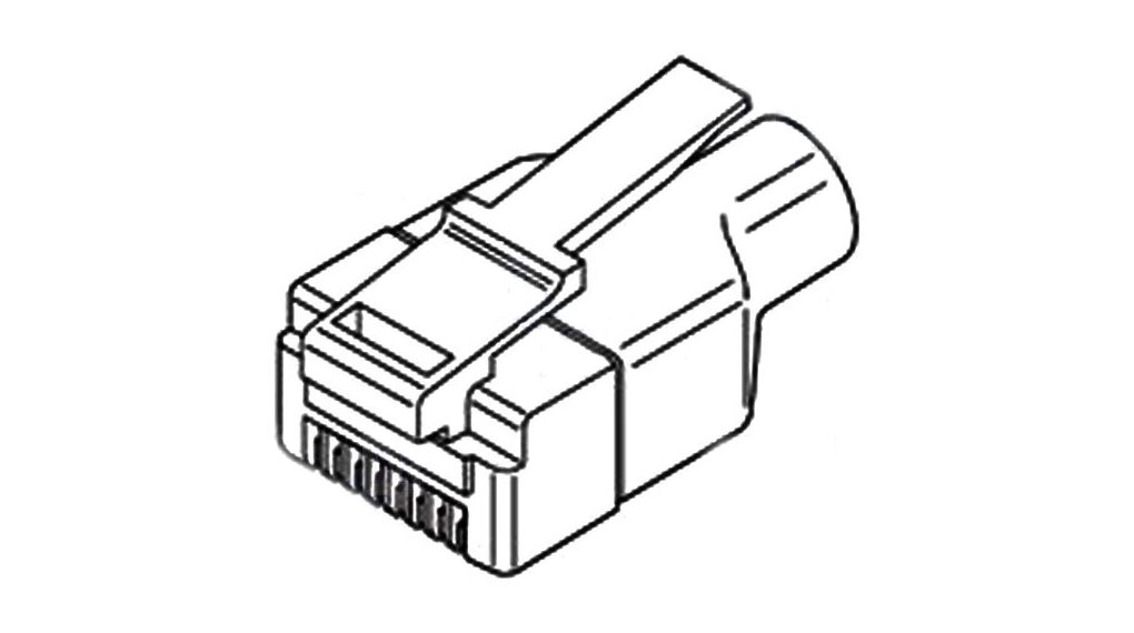 Buy Modular plug with boot RJ45 8P8C shielded