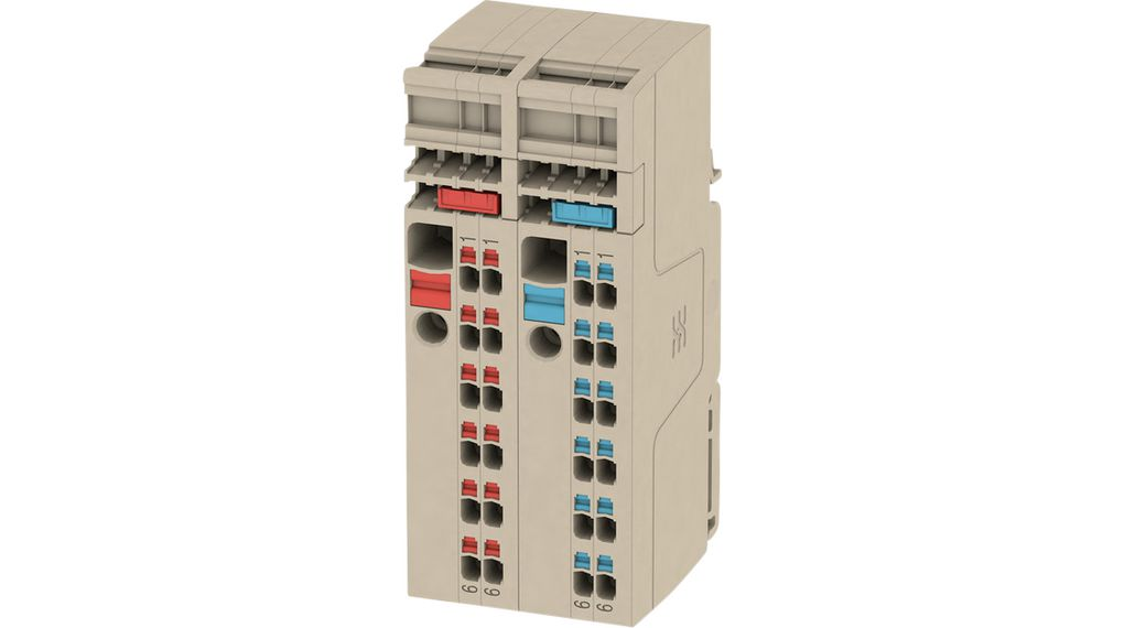 Buy Terminal block Push-In, 0.5...6 mm² 500 V 41 A Beige/Red/Blue