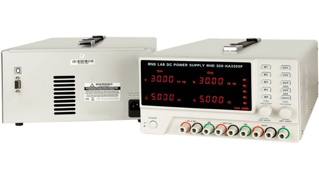 Buy Bench Top Power Supply, Number of Outputs=3, Voltage Max. 30 V, Current Max. 5 A, Programmable