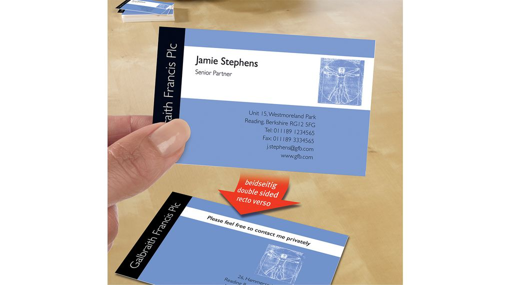 C3201525 premium business cards 25 x 8 cards 85 x 54 mm avery avery zweckform c32015 25 18098985 02 reheart Image collections