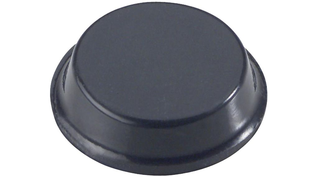 Buy Rubber Feet, Cylindrical, 12.7x12.7x3.5mm, 70 Shore A, Black