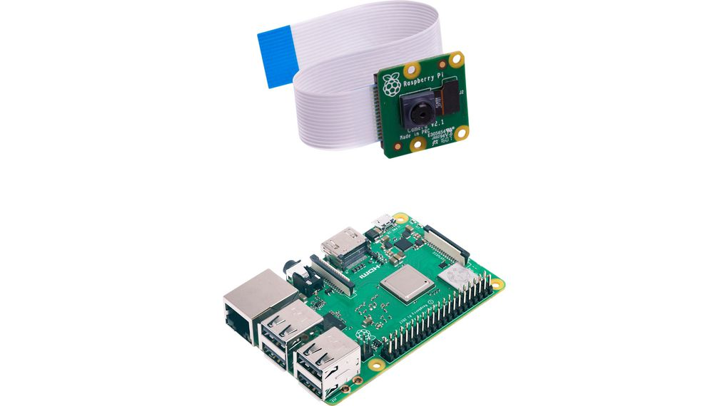Raspberry Pi 3 Model B+ with Camera v2.1 8M
