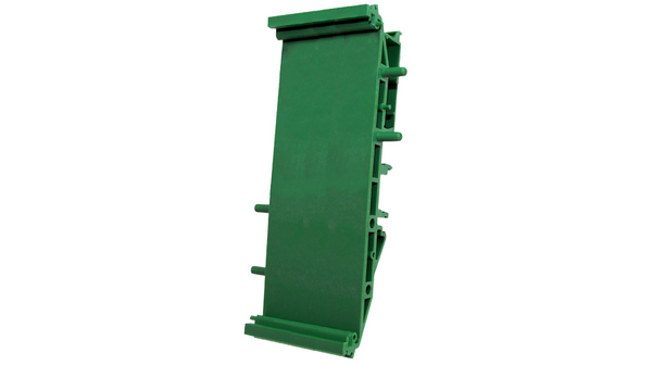 Buy Euro DIN Rail Support Base with Foot 35x35x109mm Green Polyamide IP20