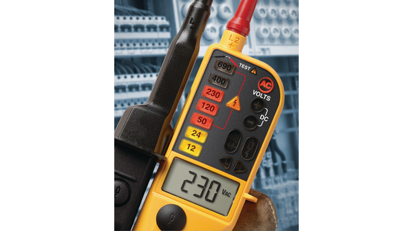 Buy FLUKE T150 Voltage/Continuity Tester With LCD, Ohms, Switchable Load 6...690 V DC/AC