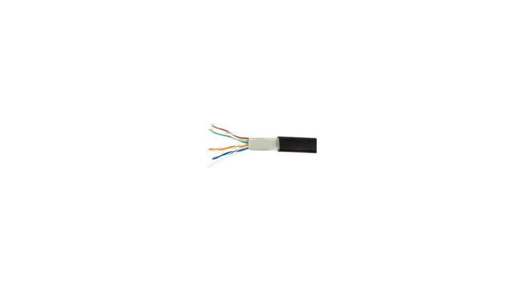 74010 BK Ethernet cable Cat5e 4 paired Black 22 AWG x032 mm² 152 m ...
