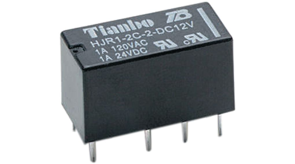 Relay 2-pole 12 VDC 720 Ohm THD