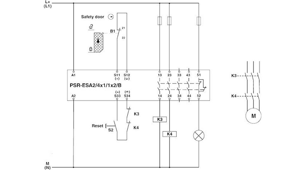 Phoenix contact safety relay wiring diagram data wiring diagram psrscp 24uc esa2 4x1 1x2 b safety relay 4 no 1 nc phoenix contact rh elfa se safety wire diagram ford neutral safety switch diagram swarovskicordoba Image collections