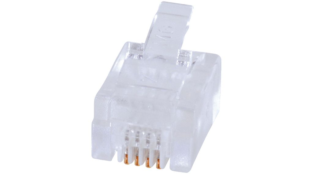 Buy Modular plug short RJ12 6P4C Unshielded