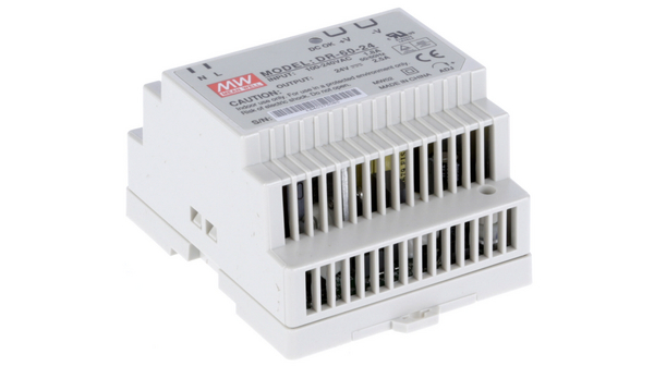 Buy DIN Rail Power Supply, 24V, 2.5A, 60W, Adjustable