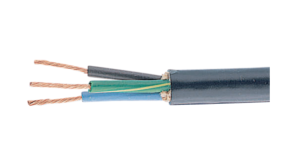 1943/3 BK003 Mains cable 3 Cores, 3 x2 mm² Bare Copper Stranded Wire ...
