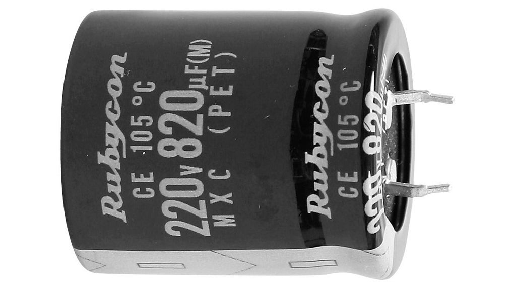 Electrolytic Capacitor Rubycon 10000 UF 50 Volt Snap in 30x50