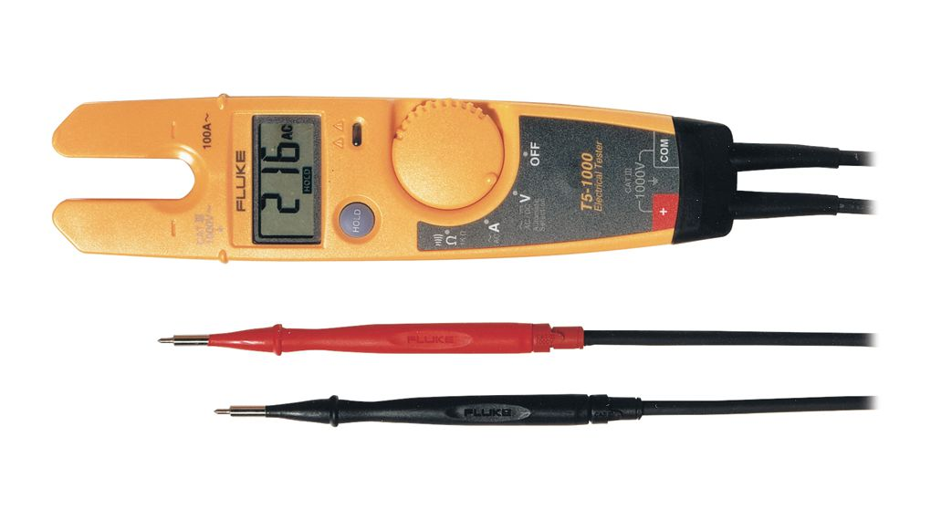 Buy Fluke T5-1000 Voltage, Continuity and Current Tester , 100A, 1kOhm, IP52