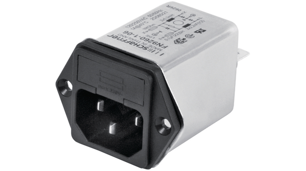 Buy Power inlet with filter 4 A 250 VAC