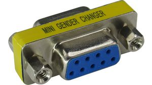 VGA 9 Pin DB9 Female to 25Pin DB Male Lead Cable Gender Changer Coupler Adapter