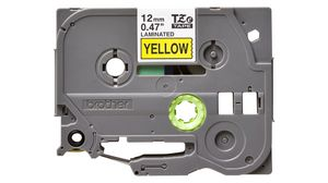 Black on Yellow, 2 Pack MS Imaging Supply Label Tape Replacement for Brother M631