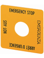 Emergency stop sign in four languages 50 x 50 mm 25 x 25 mm Buy {0}
