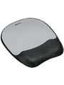 Memory Foam wrist support with mouse pad, silver strip design Buy {0}