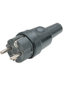Splashproof Plug Black F (CEE 7/4) Buy {0}