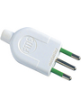 Mains plug straight white IT White IT Buy {0}