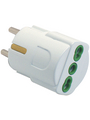 Branch plug 3-pin IT White 2P+T 16 A Earthing contact Buy {0}