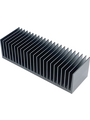 Heat sink 100 mm 0.3 K/W  @ 300 W black anodised Buy {0}