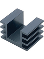 Heat sink 1000 mm 5.5 K/W  @ L=100 mm black anodised Buy {0}