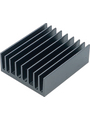 Heat sink 100 mm 2.5 K/W  @ 20 W black anodised Buy {0}