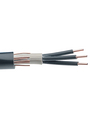 Mains cable   4 x10.00 mm² Copper wire bare unshielded PVC black Buy {0}