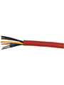 Mains Cable,   5 x1.5 mm², Stranded Tin-Plated Copper Wire, Unshielded, Silicone, Red Buy {0}